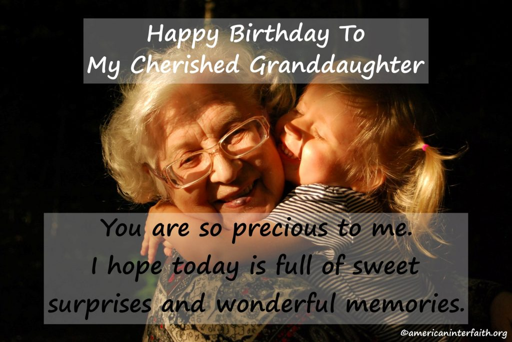1st Birthday Wishes For Granddaughter