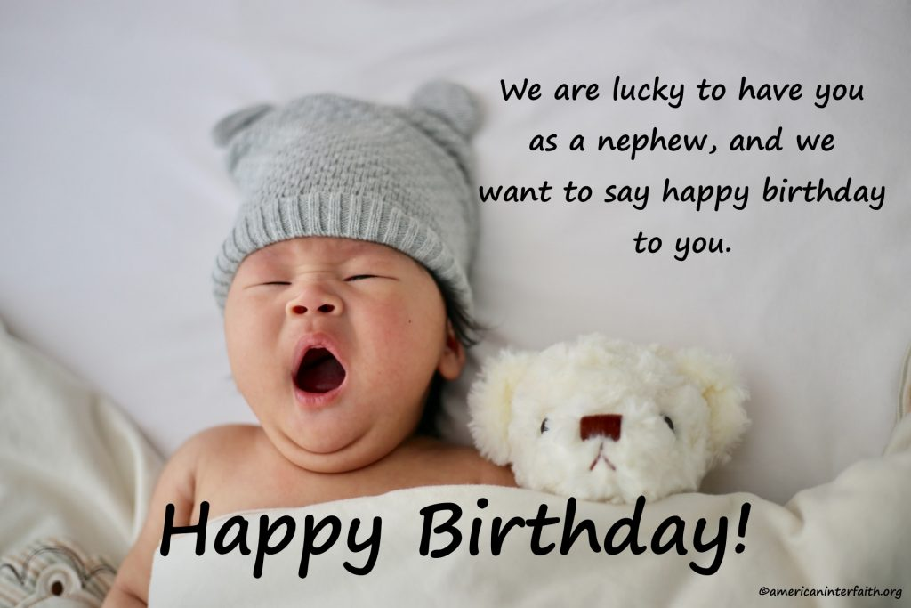 First Birthday Wishes For Nephew