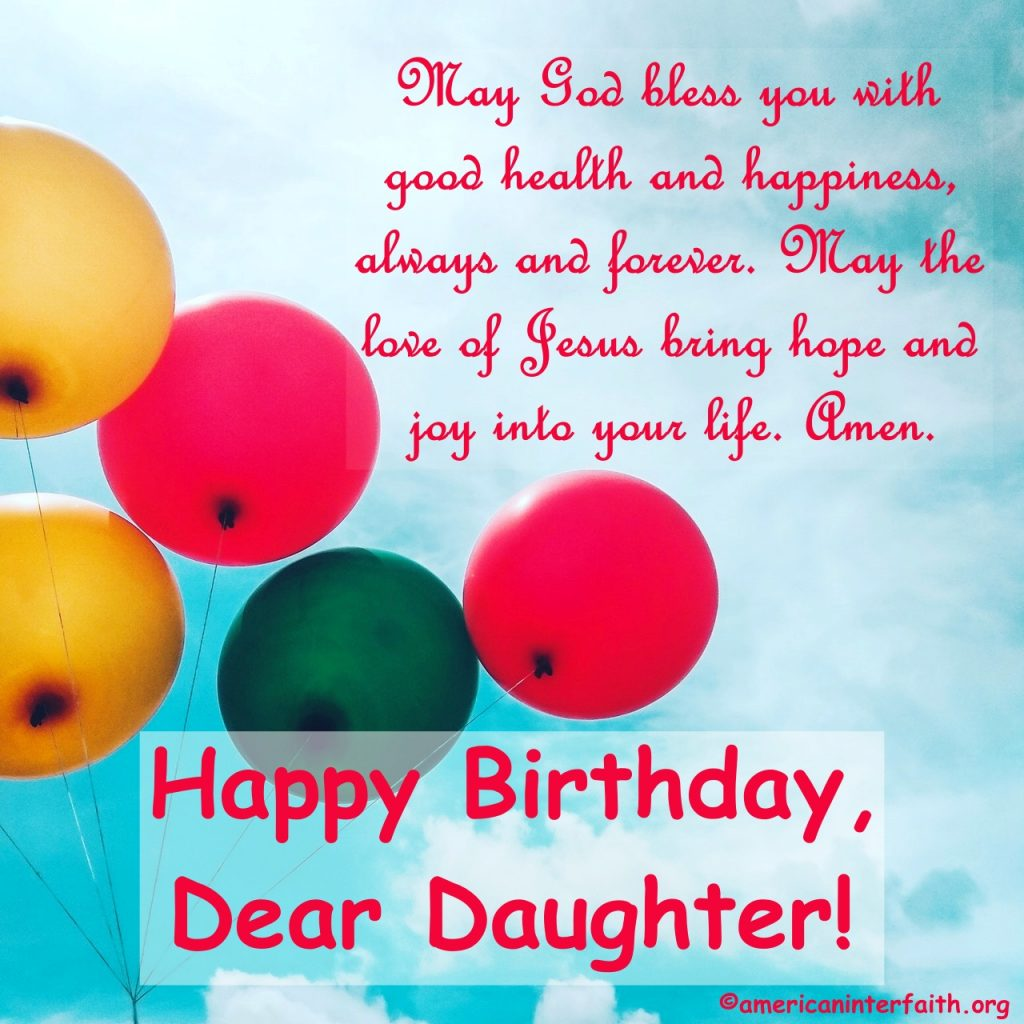 Christian Birthday Wishes For Daughter
